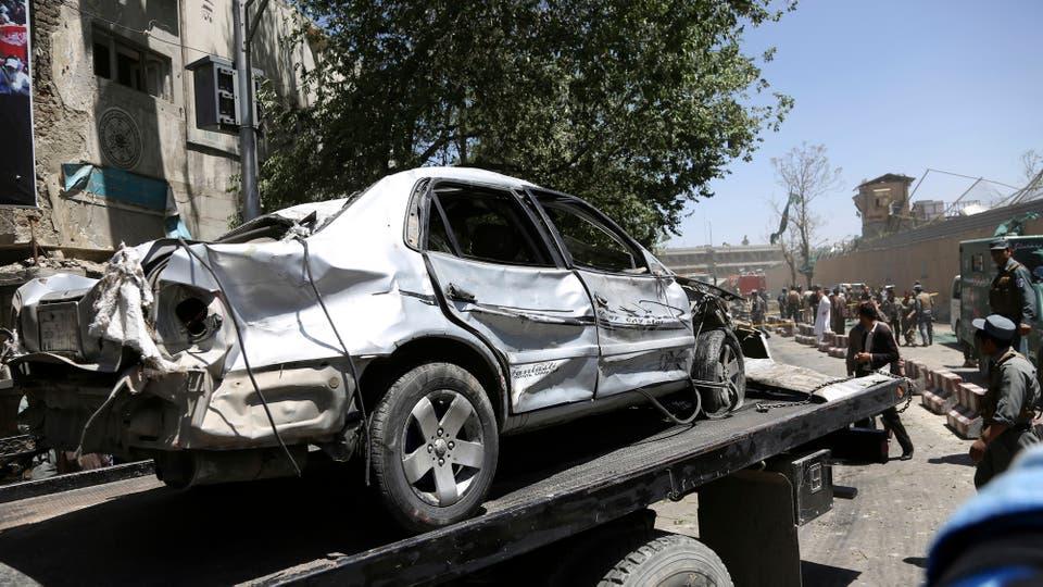 Según declaraciones de Danish, la explosión fue tan potente que más de 30 vehículos fueron dañados. Foto: AP