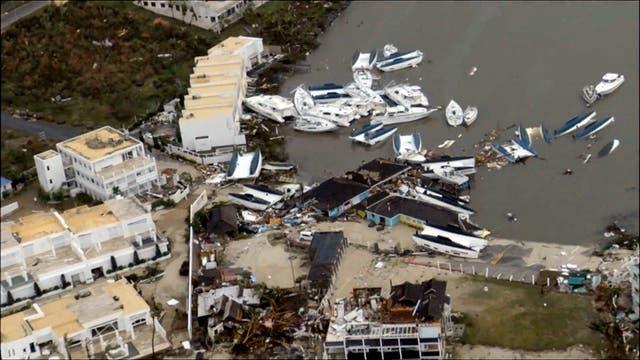 La parte holandesa de la Isla Saint Martin, sufrió graves daños