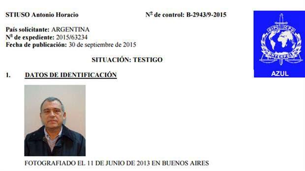 La circular azul de Interpol contra Stiuso