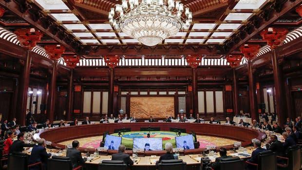 Ronda de líderes mundial en el Foro de la Franja y la Ruta para la Cooperación Internacional