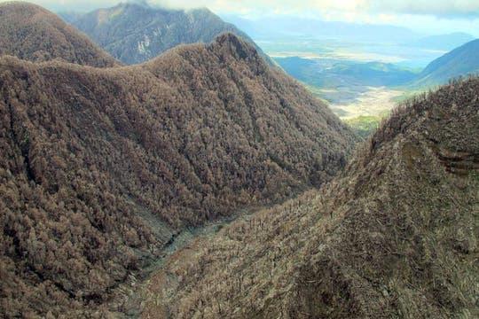 Desde el aire, una de las imágenes de las estancias de Tompkins. Foto: Fundación Tompkins