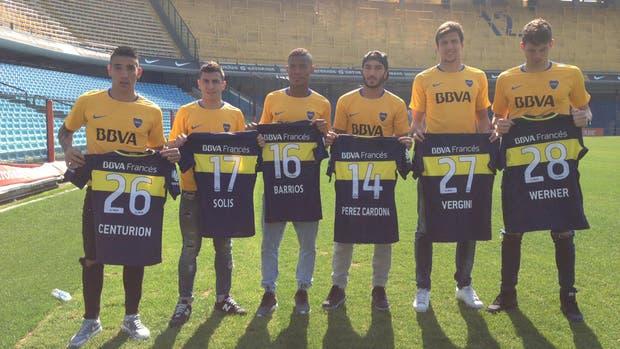 Seis de los refuerzos de Boca para la temporada