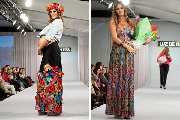¡Otra embarazada! Paula Chaves, en su séptimo mes, desfiló para la marca Luz de Mar. ¿Cuál de sus outfits te gusta más?. Foto: Ninch Comunicación