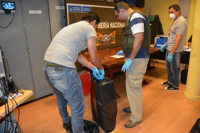 La droga estaba distribuida en 12 valijas que, entre todas, sumaban 360 paquetes con 389 kilogramos