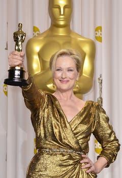 Meryl Steep, ganadora a mejor actriz por La dama de hierro. Foto: AFP