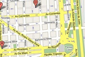 Mapa de Buenos Aires con la nueva vista que habilitará Google el lunes