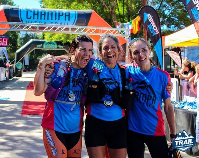 Tania Diaz, Belen Barrera y Adriana Vargas, el podio del Campeonato Nacional de UltraTrail 2017