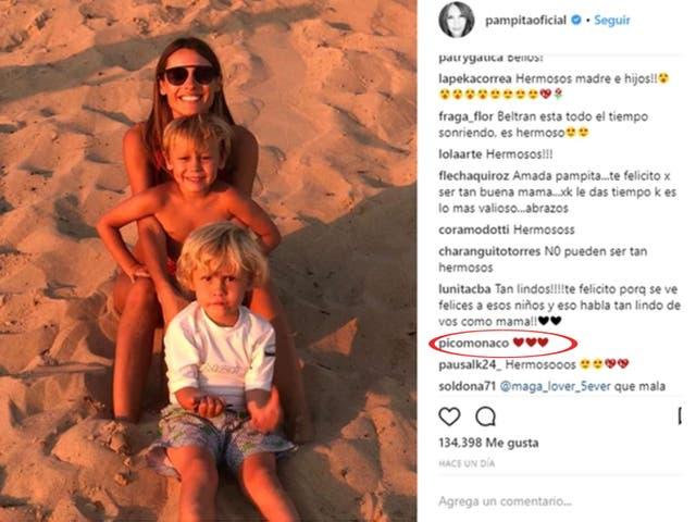 El like de Pico a Pampita y sus hijos