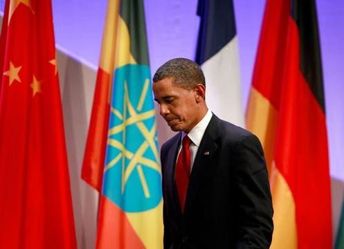 Barack Obama, en el plenario del G-20.. Foto: EFE