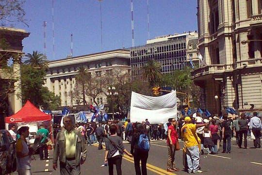 El centro, convertido en peatonal. Foto: lanacion.com / @msolamaya