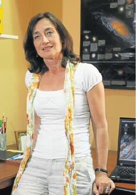 Beatriz Tissera, en su oficina del IAFE, en Ciudad Universitaria