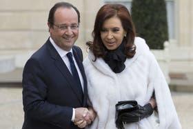 Cristina Kirchner se reunió con Hollande en Francia en marzo pasado
