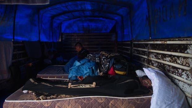 Tomar un descanso antes de continuar viaje. Foto: LA NACION / Diego Lima