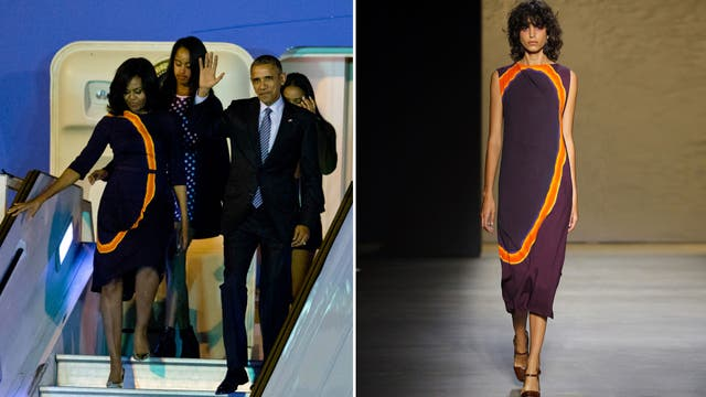 La Looks Obama Argentina En Su Michelle A Los De Visita uK1cT3JlF5