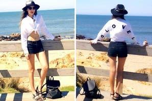 Blanco y negro para la playa