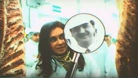 Kirchner y Batista en una planta frigorífica de Merlo