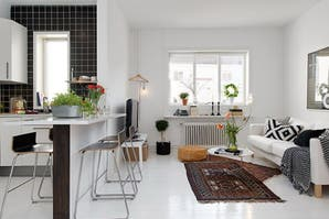 Solución 394: ideas para decorar un living con cocina integrada