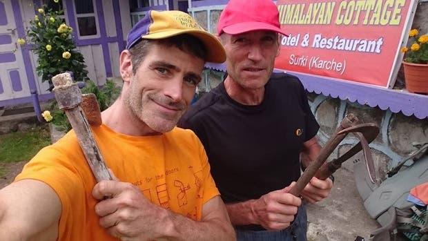 Mariano Galván (izquierda) y su compañero, el alavés Alberto Zerain, están extraviados desde el sábado 24 de junio