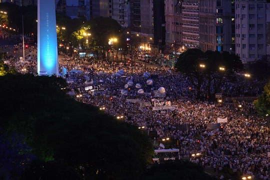 Se trata de la segunda gran protesta contra el Gobierno convocada desde las redes sociales. Foto: LA NACION / Mauro Alfieri