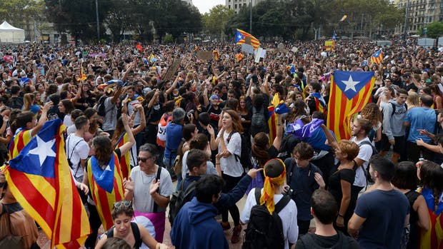 Partidarios de la independencia se congregaron, ayer, en Barcelona