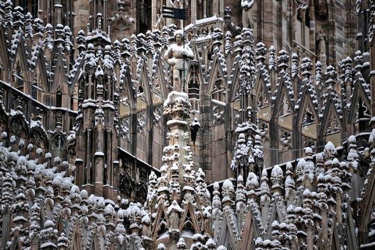 Europa vive una ola de frío con muchas tormentas y acumulación de nieve. Foto: AP