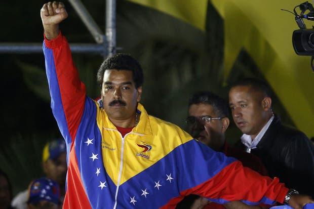 Nicolás Maduro, en el Palacio Miraflores, una vez conocida la victoria