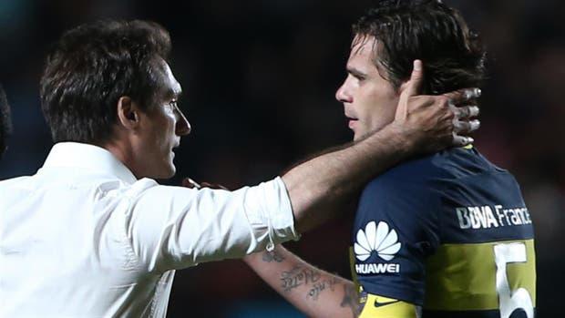 Barros Schelotto y Fernando Gago