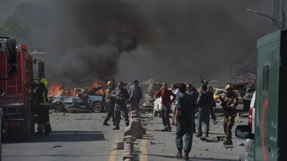 El estallido, que destrozó ventanas y arrancó las puertas de sus marcos en casas a cientos de metros de distancia. Foto: AFP