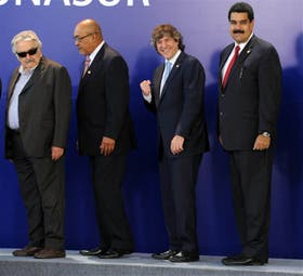 Mujica, Delano (Surinam), Boudou y Maduro