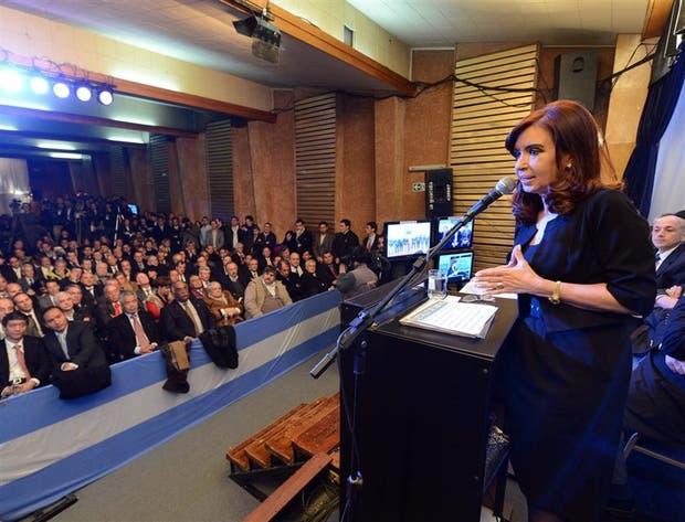 Cristina Kirchner, el día en que anunció la obra que Macri busca achicar