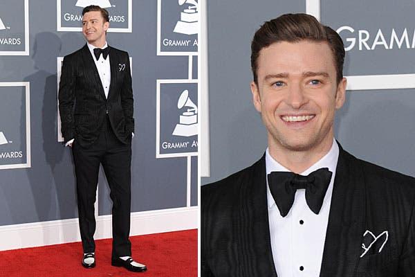Justin Timberlake se llevó todas las miradas por su impecable look. El detalle, los zapatos en negro y blanco. Foto: AP