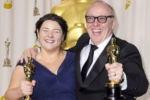Los directores irlandeses Terry  y Oorlagh George cortometrajepor The Shore. Foto: EFE