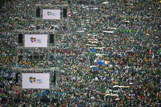 Tres millones de personas se congregaron para la misa de clausura. Foto: AFP