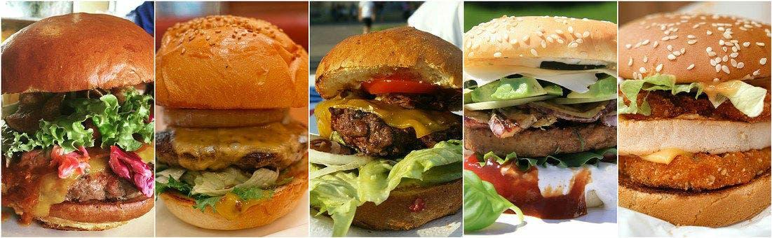 Hamburguesa de varios gustos (Pixabay)