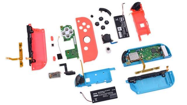 Así son las diferentes partes internas de los controls de la Nintendo Switch