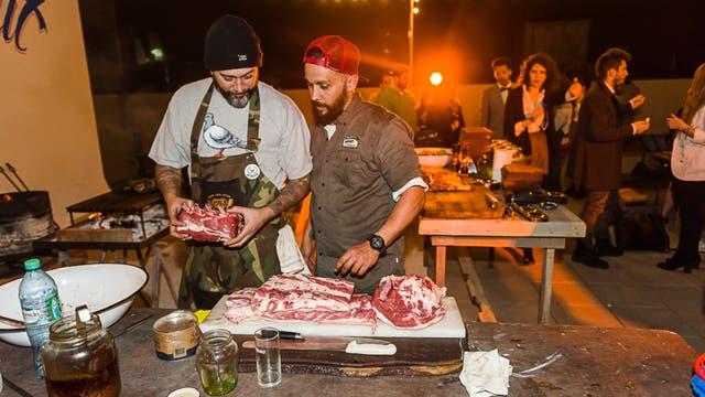 El cocinero Lele Cristóbal y Ariel Argomániz
