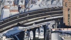 Nueva York: los efectos del ciclón bomba, vistos desde arriba
