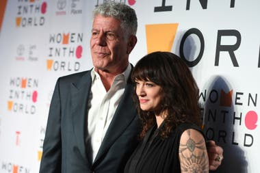 Last April, with Anthony Bourdain