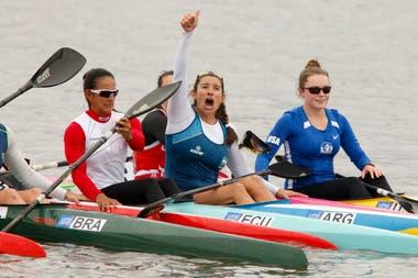 Sabrina Ameghino, medalla dorada en el K1 200 de canotaje