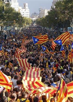 Barcelona fue tomada ayer por la fiebre independentista