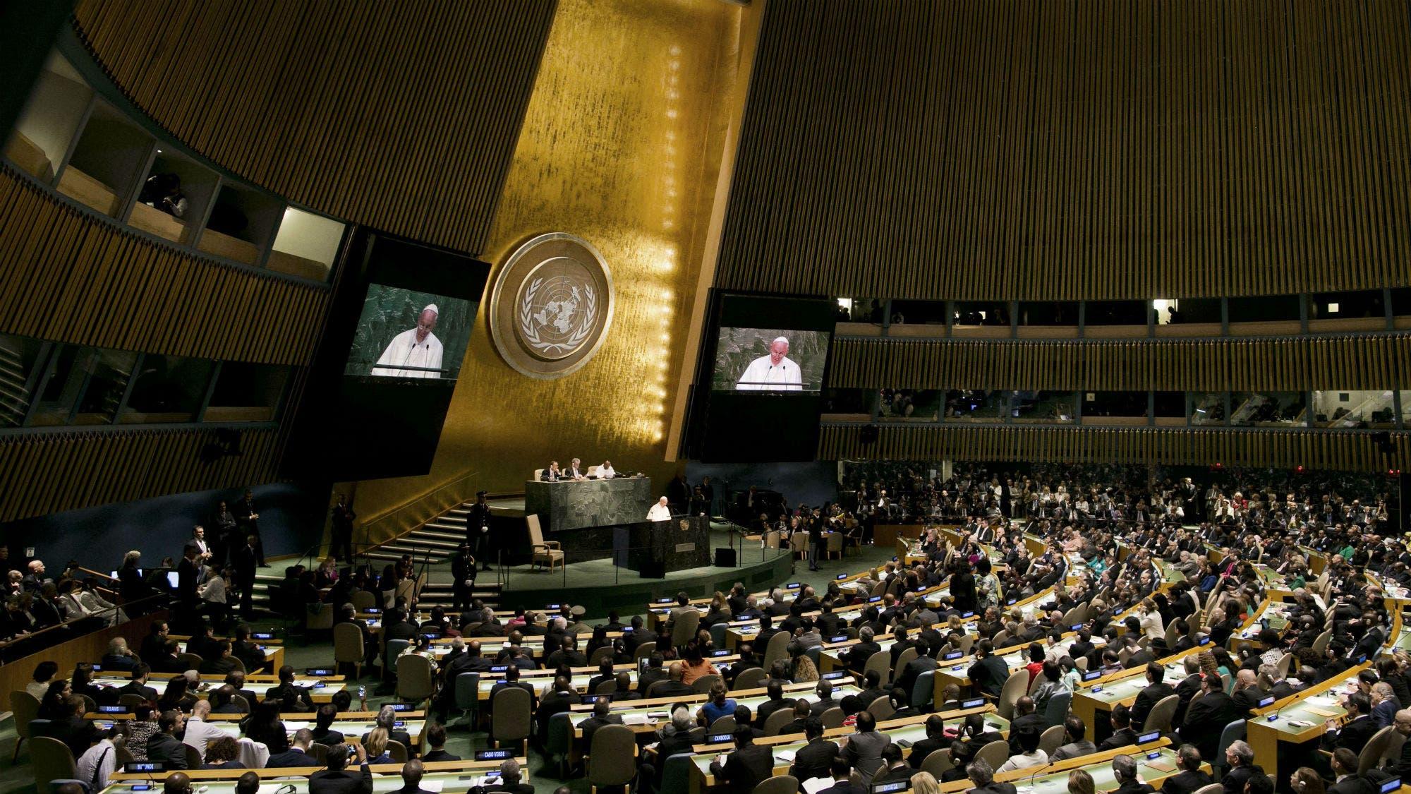 """El papa Francisco denunció ante la ONU la""""sumisión asfixiante"""" de los organismos financieros"""