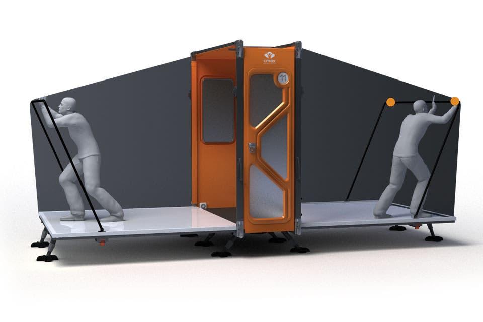 El CMAX se arma en 11 minutos y puede albergar a 10 personas.