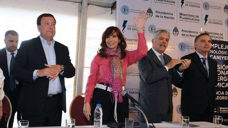 Cristina, con De Vido en la CNEA