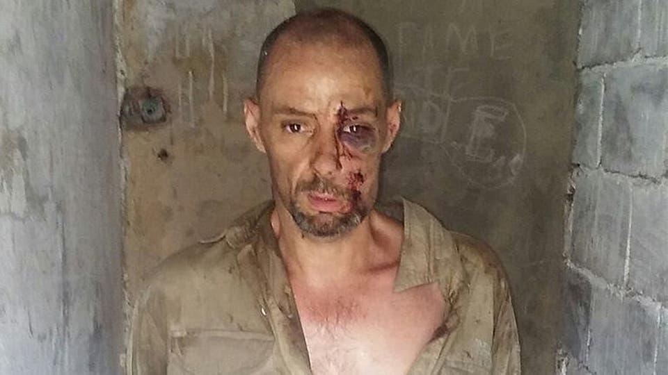 Martín Lanatta, luego de ser detenido por la policía en Cayastá