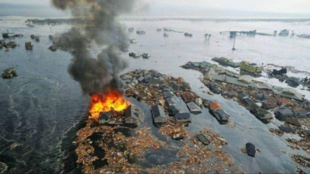Pueblos enteros fueron arrasados por el tsunami