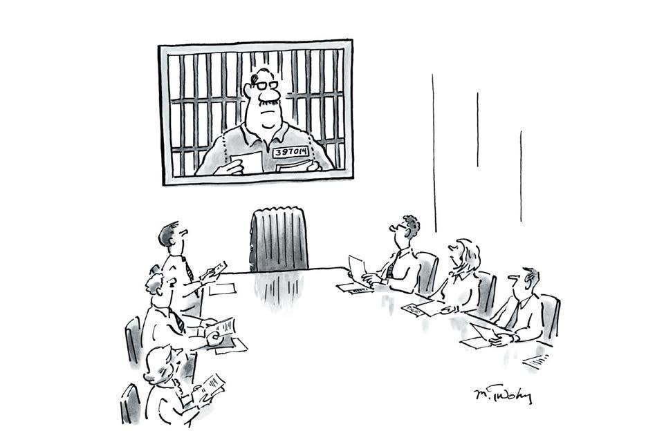 Para llegar al trabajo con una sonrisa, una preciosa edición compila los mejores chistes sobre oficina publicados en The New Yorker.