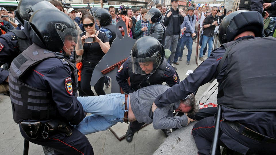Más de 700 personas fueron arrestadas en la capital. Foto: Reuters