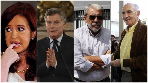 Cristina Kirchner, Mauricio Macri, Aníbal Fernández y Fernando De la Rúa