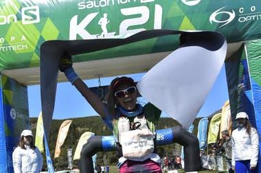 Yennifer Castro, ganadora de los 21 km