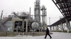 Un operario en una planta de gas ucraniana en Solokhovskoe, cerca de Poltava, a unos 330 kilómetros al este de Kiev, Ucrania.